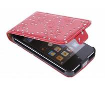 Rood bloemblad design flipcase iPod Touch 4g