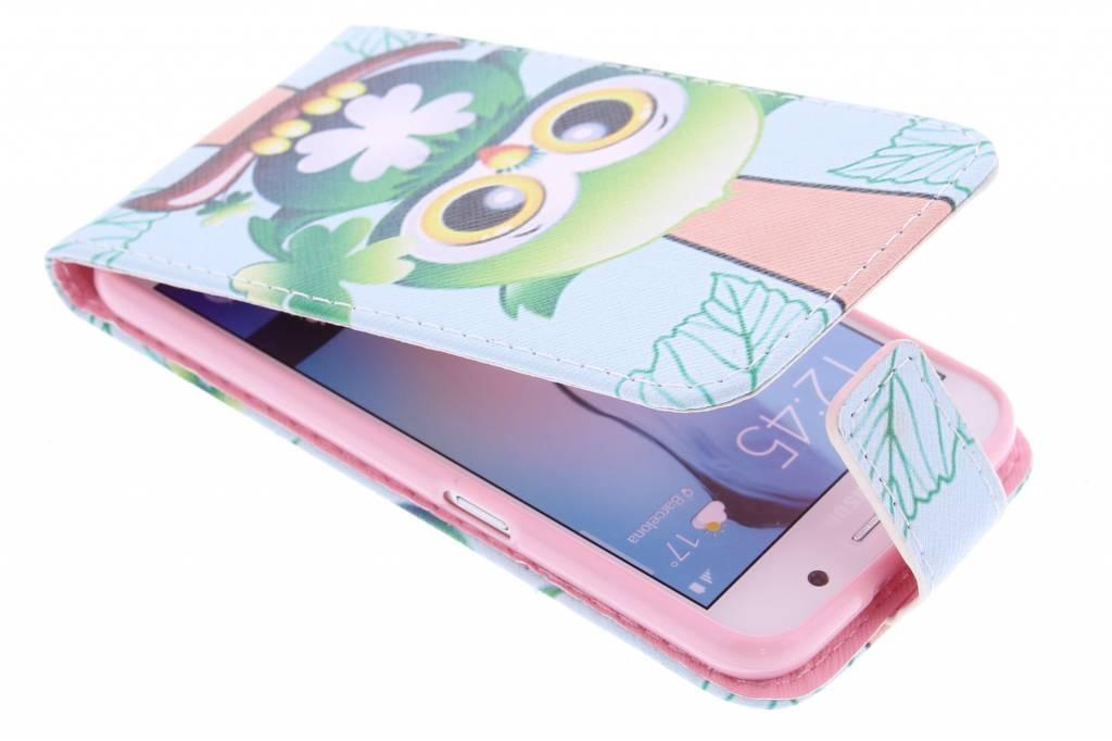 Uil design TPU flipcase voor de Samsung Galaxy S6