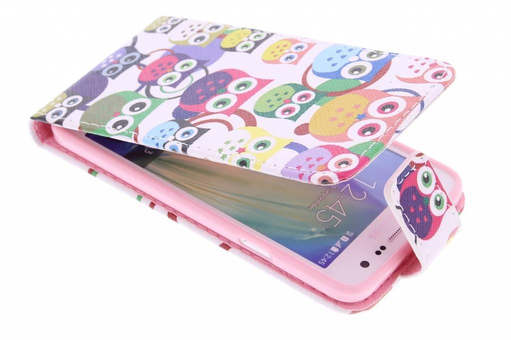 Uiltjes design TPU flipcase voor de Samsung Galaxy A3