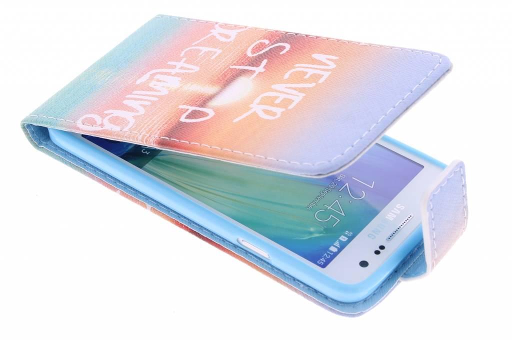 Never stop dreaming design TPU flipcase voor de Samsung Galaxy A3
