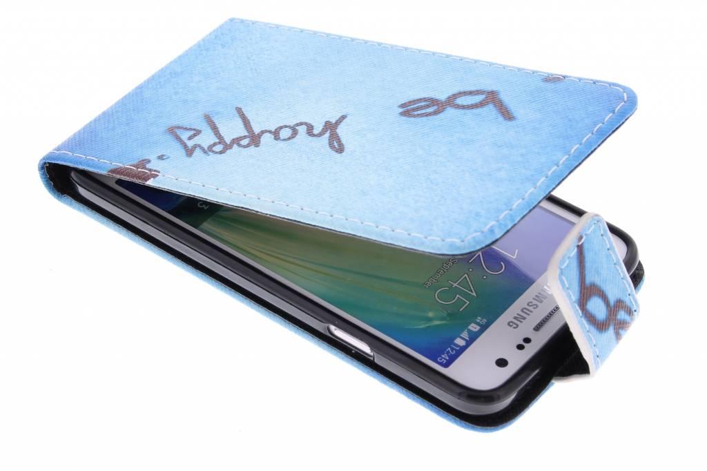 Be happy design TPU flipcase voor de Samsung Galaxy A3