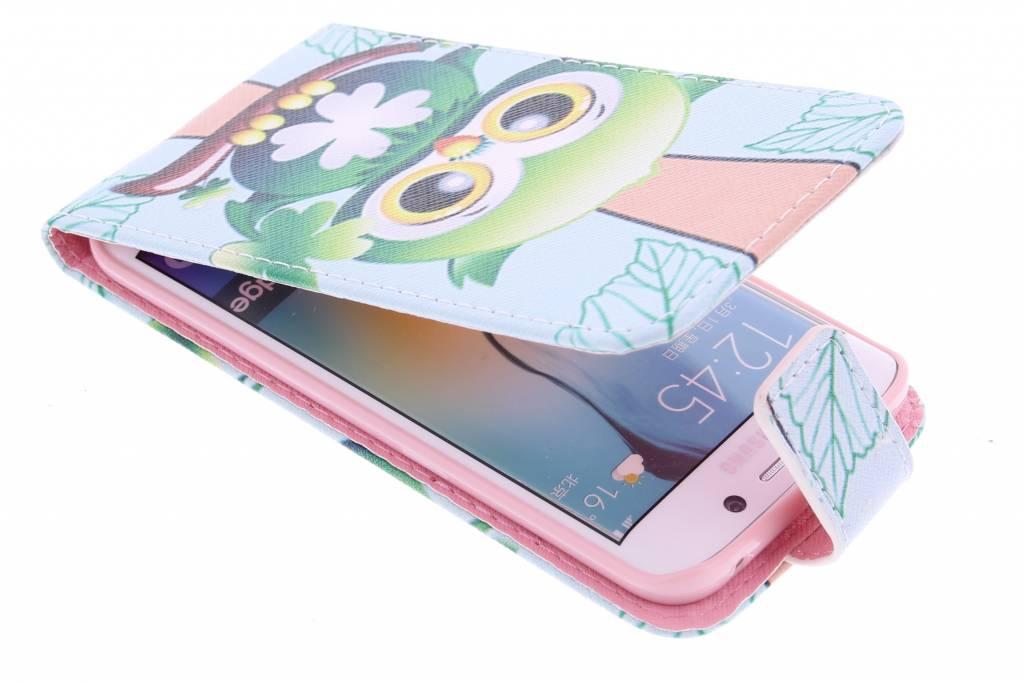 Uil design TPU flipcase voor de Samsung Galaxy S6 Edge