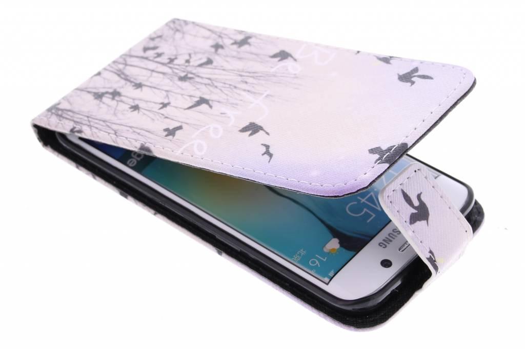 Be free design TPU flipcase voor de Samsung Galaxy S6 Edge