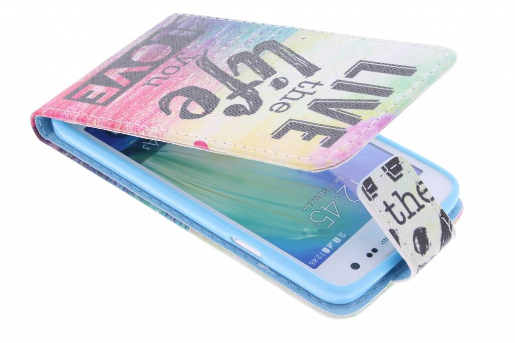 Live the life design TPU flipcase voor de Samsung Galaxy A5