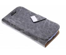 Zwart luxe luipaard booktype hoes Samsung Galaxy S3 Mini