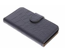 Zwart krokodil booktype hoes Huawei Y360