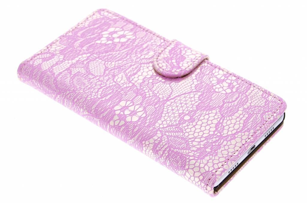Roze glamour design booktype hoes voor de Huawei P8 Lite