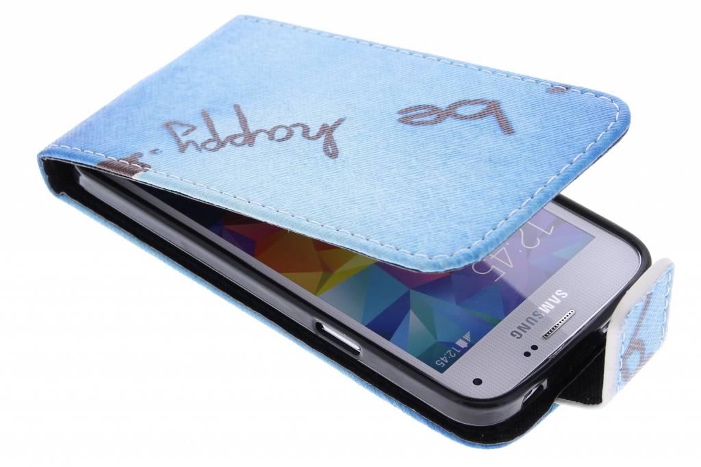 Be free design TPU flipcase voor de Samsung Galaxy S5 Mini