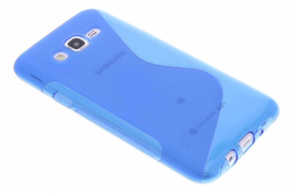 Blauw S-line TPU hoesje voor de Samsung Galaxy J7