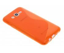 Oranje S-line TPU hoesje Samsung Galaxy J7