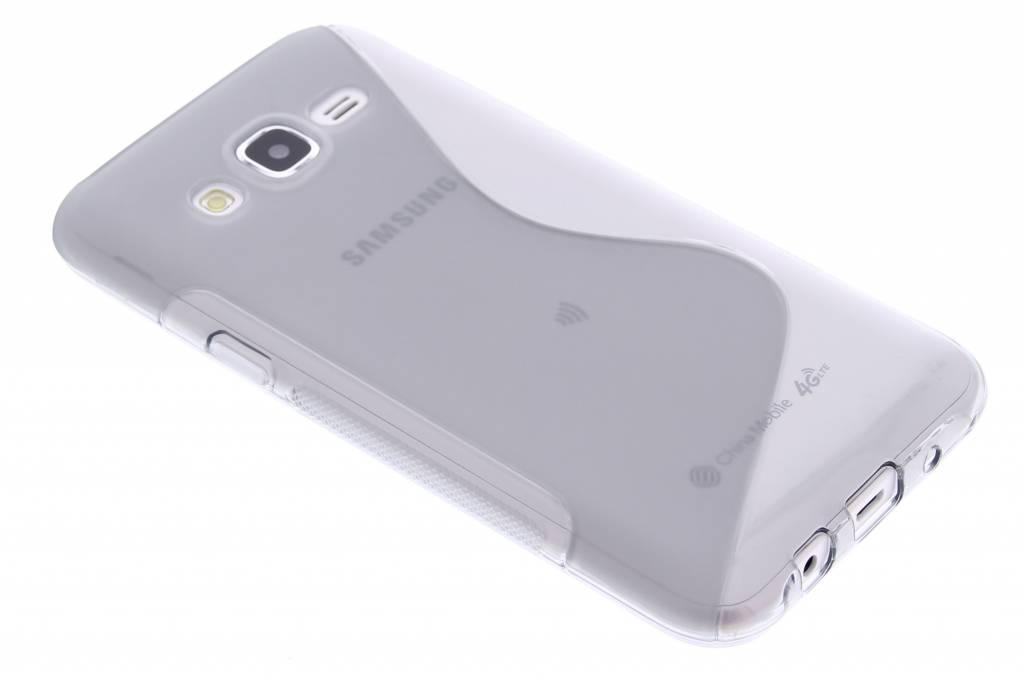 Grijs S-line TPU hoesje voor de Samsung Galaxy J5