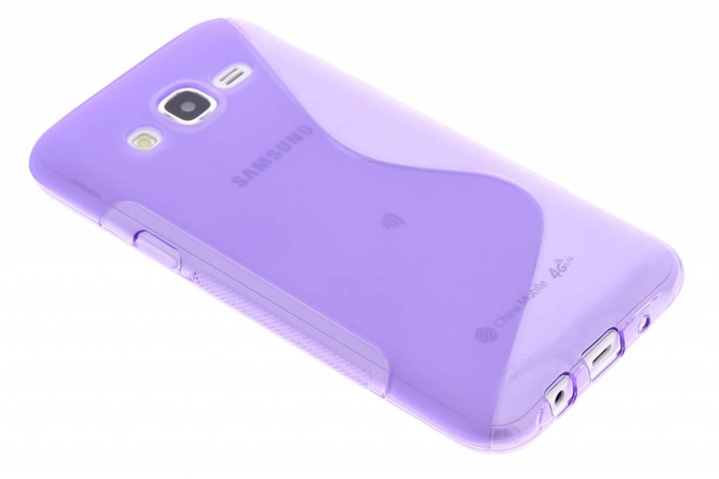 Paars S-line TPU hoesje voor de Samsung Galaxy J5