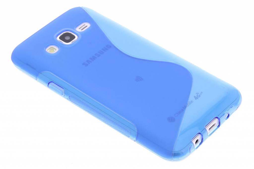 Blauw S-line TPU hoesje voor de Samsung Galaxy J5