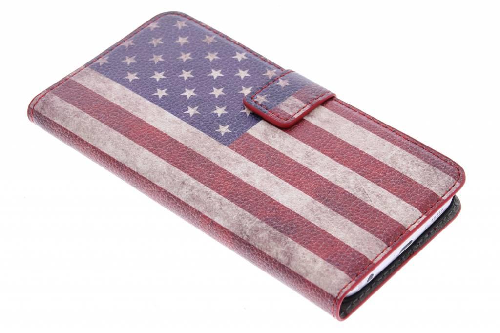 Vintage Amerikaanse vlag booktype hoes voor de Samsung Galaxy S6 Edge