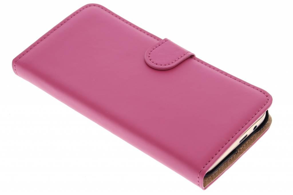 Selencia Luxe Book Case voor de HTC One M9 - Fuchsia