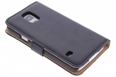 Cas Livret Pour Samsung Galaxy S5 (plus) / Néo - Noir udvwK5NKK3