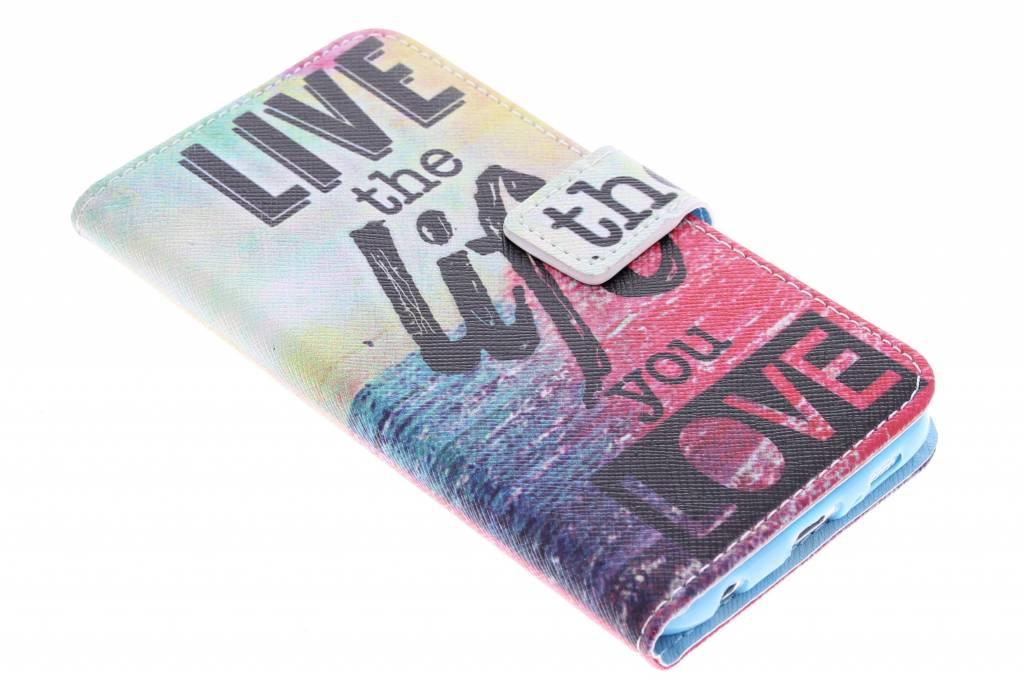 Live the life design TPU booktype hoes voor de Samsung Galaxy S6