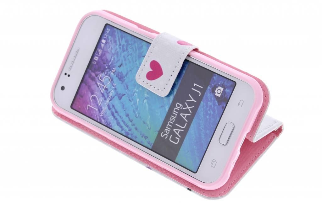 Cas De Conception Booktype Tpu Hibou Pour Samsung Galaxy J1 RC5nG