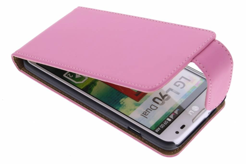 Roze classic flipcase voor de LG L90
