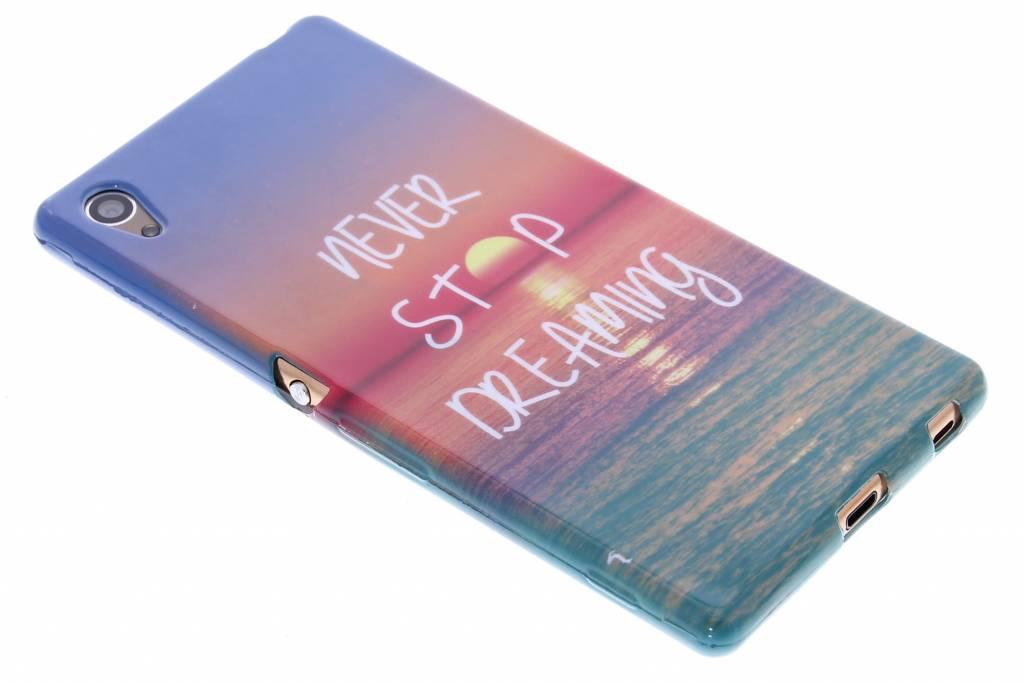 Never stop dreaming design TPU siliconen hoesje voor de Sony Xperia Z3 Plus