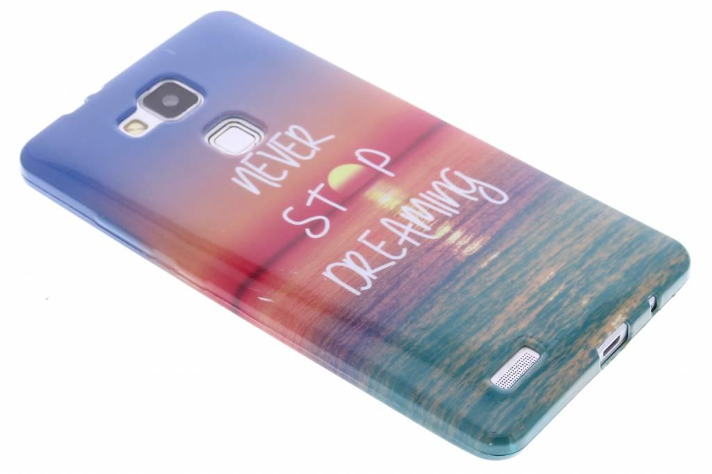 Never stop dreaming design TPU siliconen hoesje voor de Huawei Ascend Mate 7