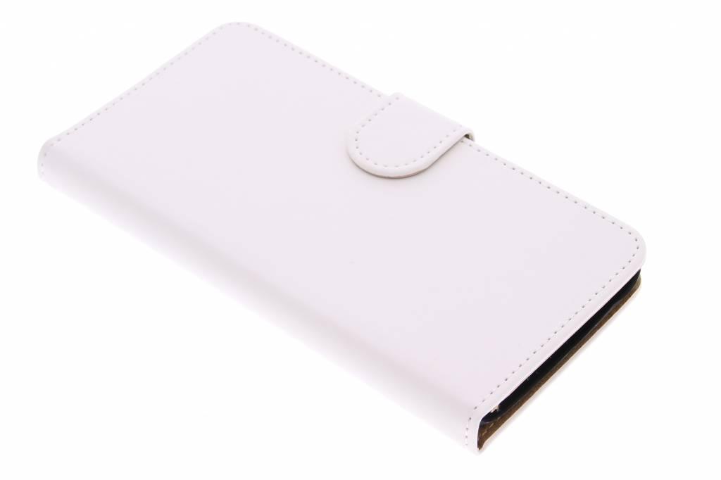Witte effen booktype hoes voor de Huawei Y625