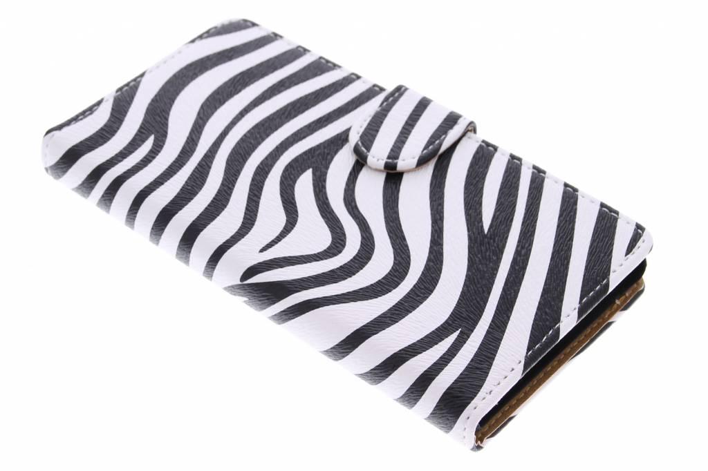 Zebra booktype hoes voor de Sony Xperia M4 Aqua