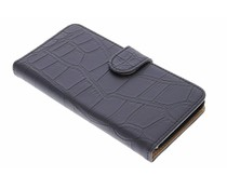 Zwart krokodil booktype hoes Huawei Y625