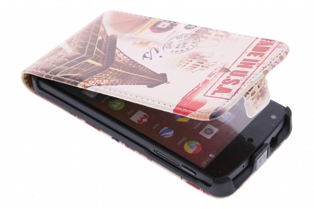 Eiffeltoren design flipcase voor de LG Nexus 5
