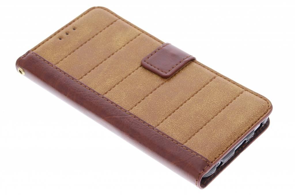 Bruine business TPU booktype hoes voor de Samsung Galaxy S6