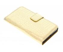 Glanzende krokodil booktype hoes LG Optimus L9