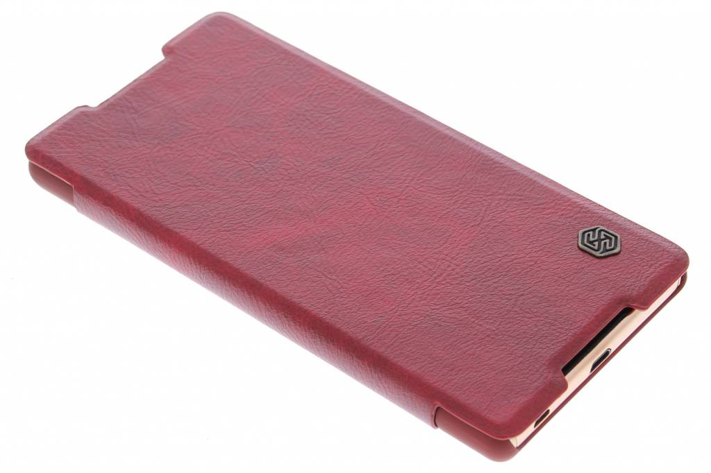 Nillkin Qin Leather slim booktype hoes voor de Sony Xperia Z3 Plus - Rood