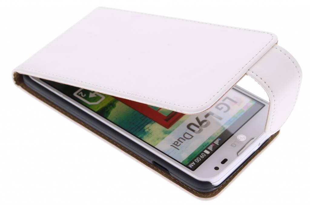Witte classic flipcase voor de LG L90