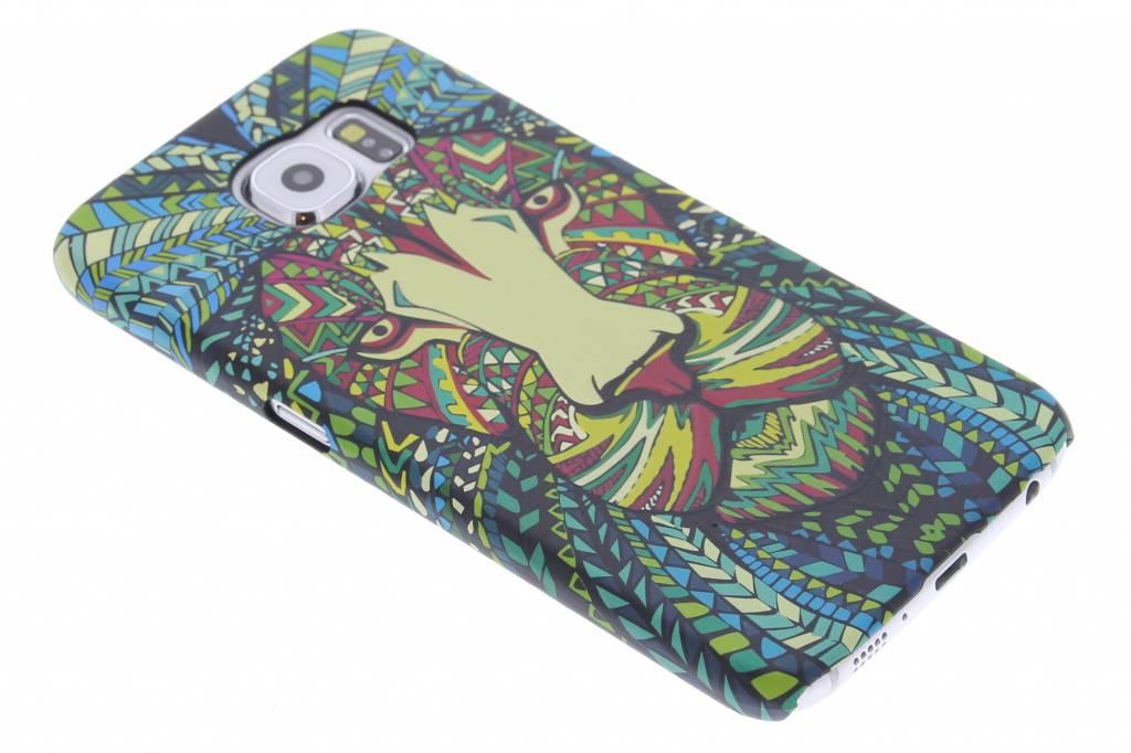 Leeuw aztec animal design voor de hardcase Samsung Galaxy S6