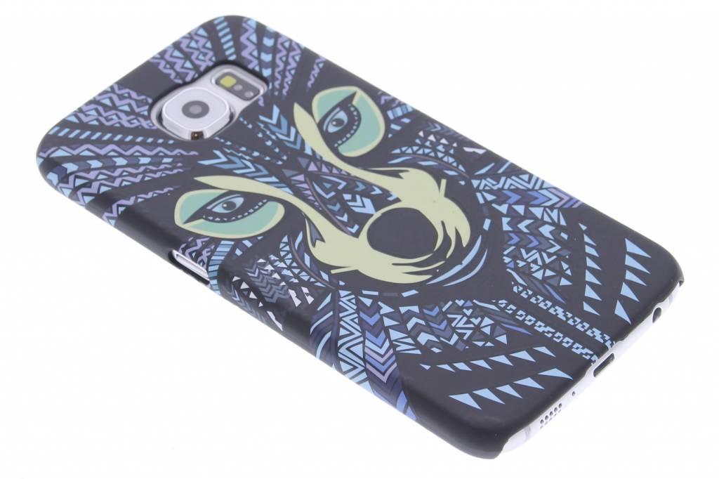 Wolf aztec animal design voor de hardcase Samsung Galaxy S6