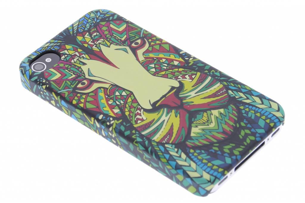 Leeuw aztec animal design hardcase hoesje voor de iPhone 4 / 4s