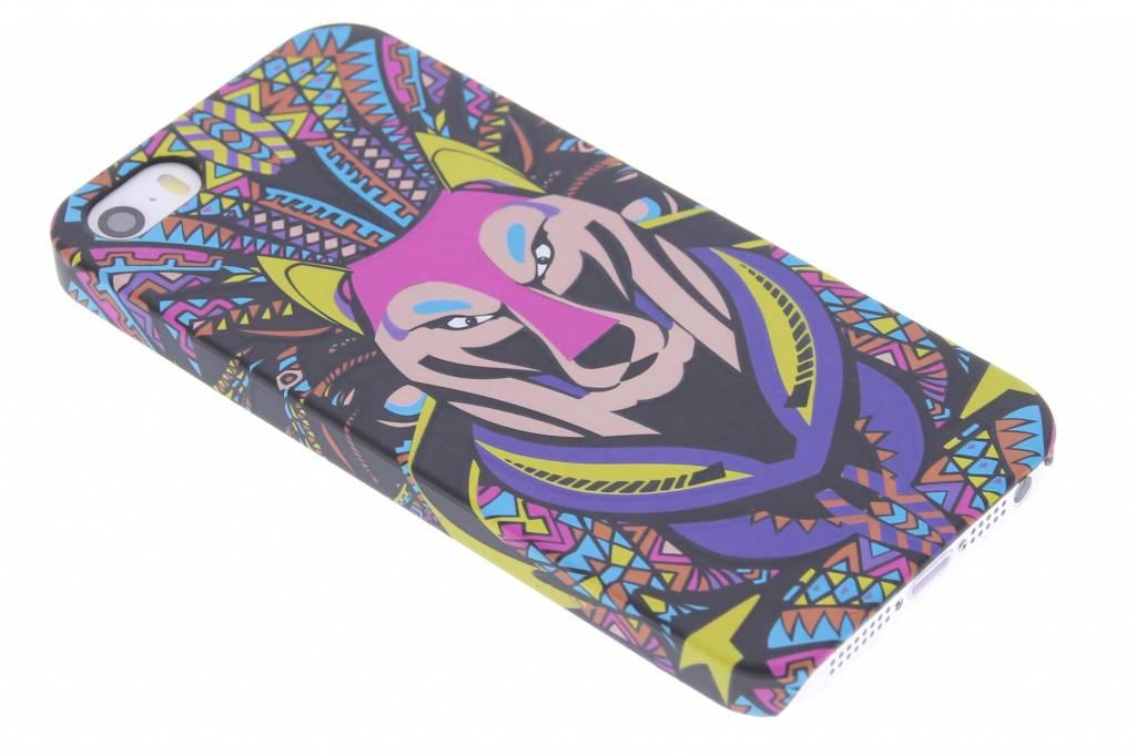 Wolf aztec animal design hardcase hoesje voor de iPhone 5 / 5s / SE