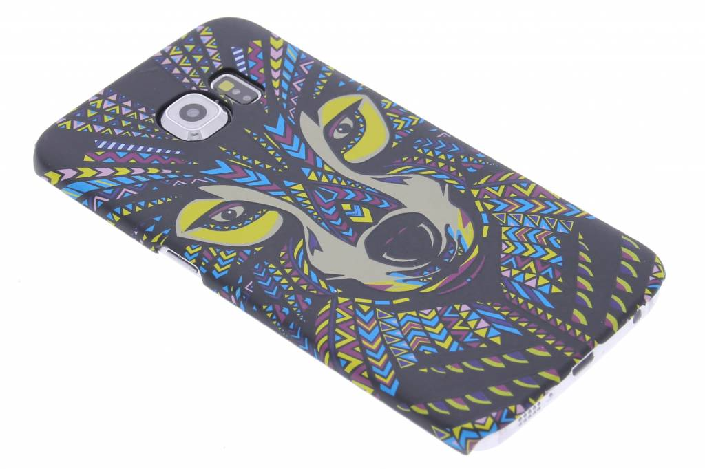 Wolf aztec animal design hardcase voor de Samsung Galaxy S6 Edge
