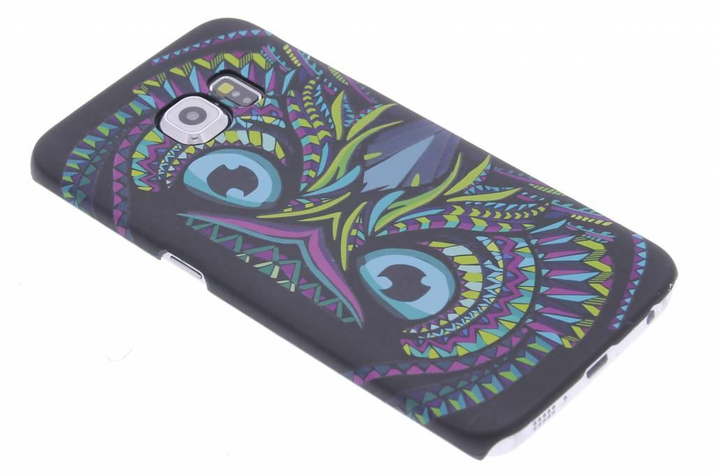 Uil aztec animal design hardcase voor de Samsung Galaxy S6 Edge
