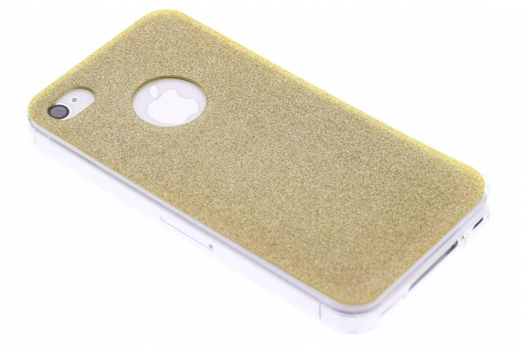 Goud glitter TPU siliconen hoesje voor de iPhone 4 / 4s