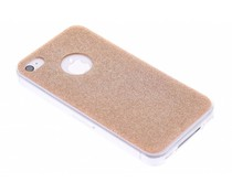 Brons glitter TPU siliconen hoesje iPhone 4 / 4s
