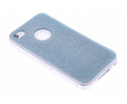 Turquoise glitter TPU siliconen hoesje iPhone 4 / 4s