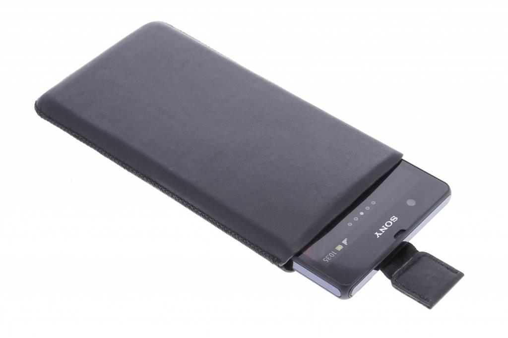 Zwarte insteekhoes voor de Sony Xperia Z