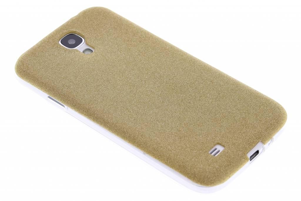 Goud glitter TPU siliconen hoesje voor de Samsung Galaxy S4
