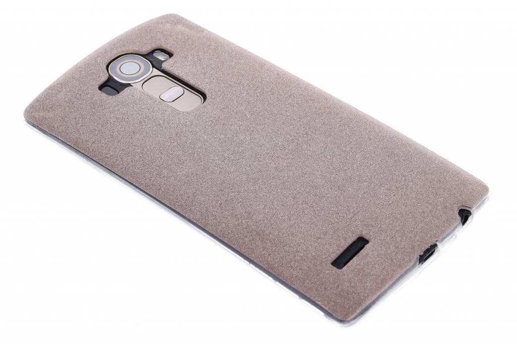 Brons glitter TPU siliconen hoesje voor de LG G4