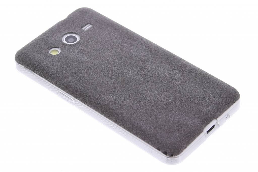 Zwart glitter TPU siliconen hoesje voor de Samsung Galaxy Core 2