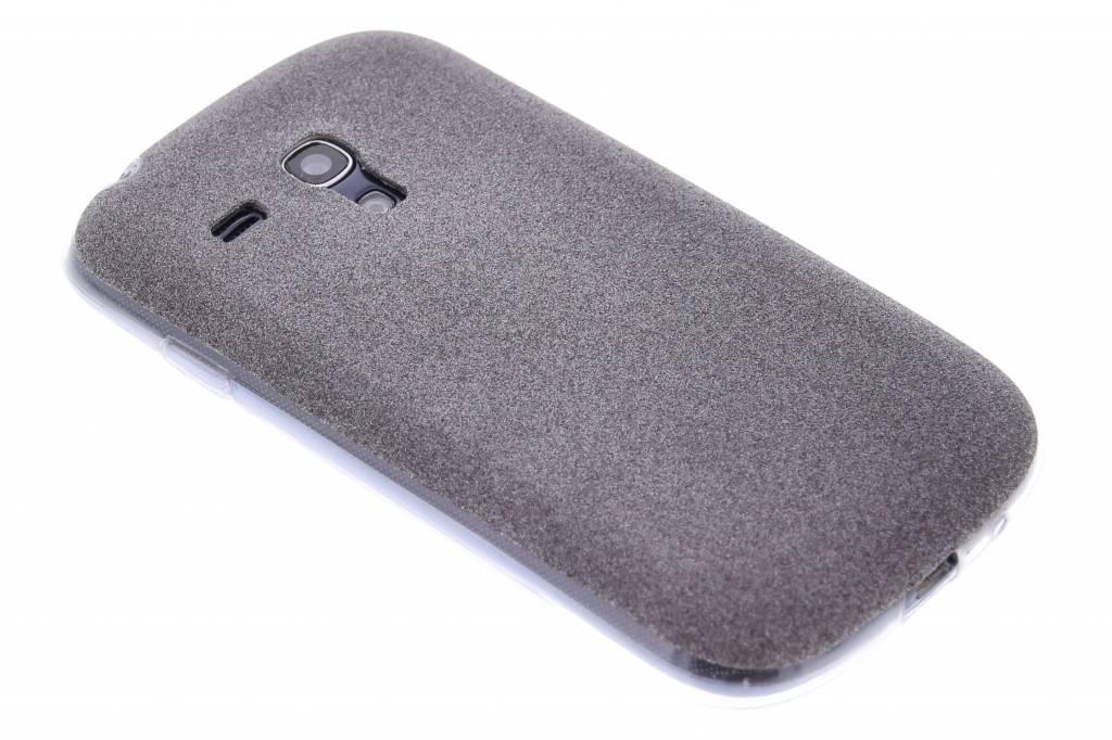 Zwart glitter TPU siliconen hoesje voor de Samsung Galaxy S3 Mini