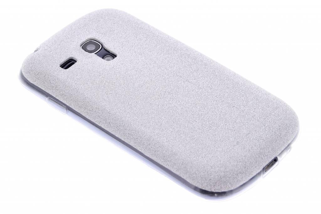 Zilver glitter TPU siliconen hoesje voor de Samsung Galaxy S3 Mini