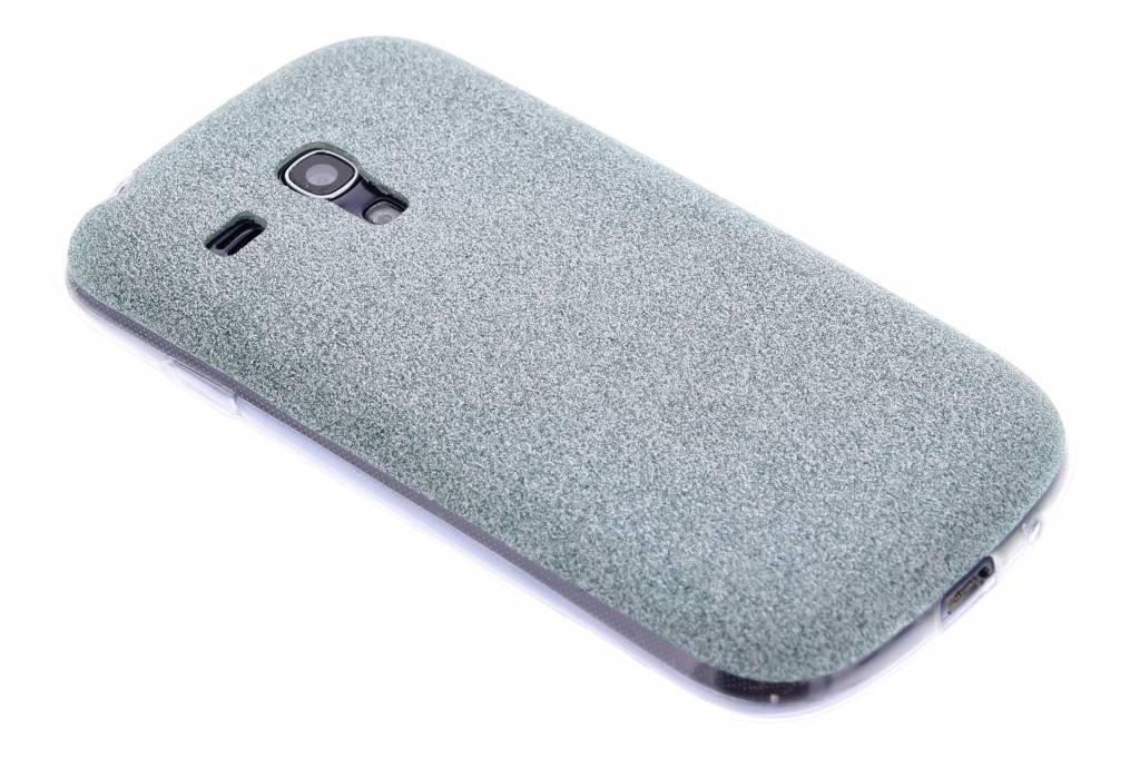 Turquoise glitter TPU siliconen hoesje voor de Samsung Galaxy S3 Mini