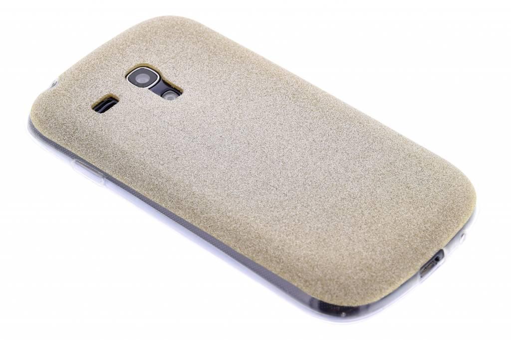 Goud glitter TPU siliconen hoesje voor de Samsung Galaxy S3 Mini